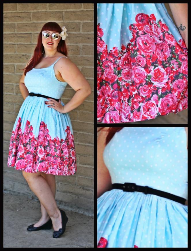 Blue rose collage